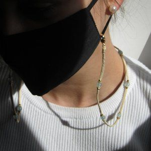 Handmade Beaded Macrame Face Mask Neck Strap